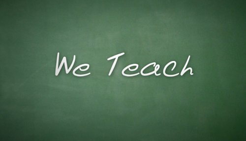 We Teach logo