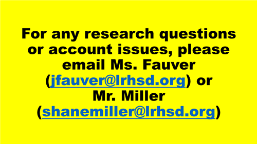 Contact Ms. Fauver or Mr. Miller