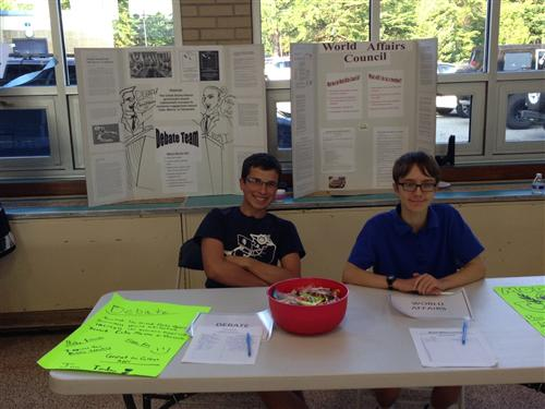 Table at Frehman Orientation