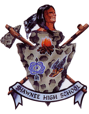 Shawnee Indian and Tomahawk Logo