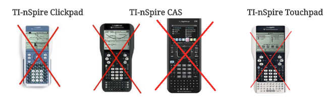 Do not purchase TI-Nspire Clickpad, CAS or Touchpad