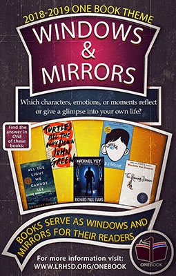 18-19 One Book Windows & Mirrors theme. Which characters, emotions, or moments reflect or give a glimpse into your own life?
