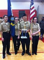NS 1 Color Guard Takes 1st Place in LET1 Division, Lenape HS Army JROTC Drill Meet
