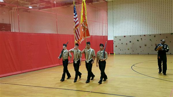 RVRHS DRILL MEET 4/9/16 1ST PLACE NS1 COLOR GUARD