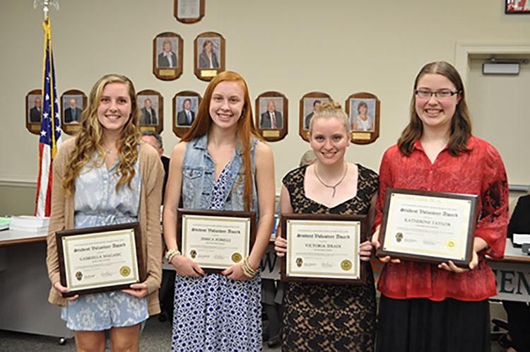 Volunteer Service Award Winners