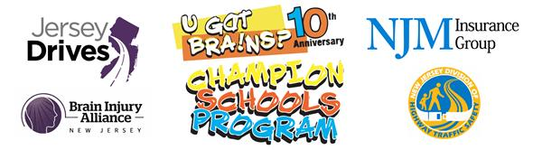 U Got Brains Champion Schools Program 10th anniversary logo and sponsors