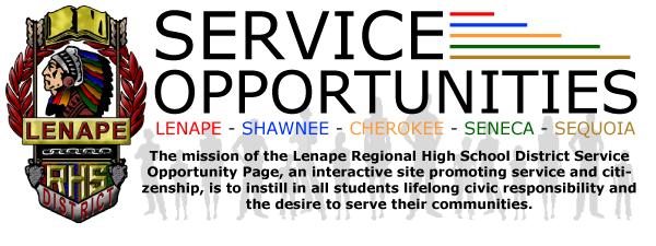 LRHSD Service Opportunities