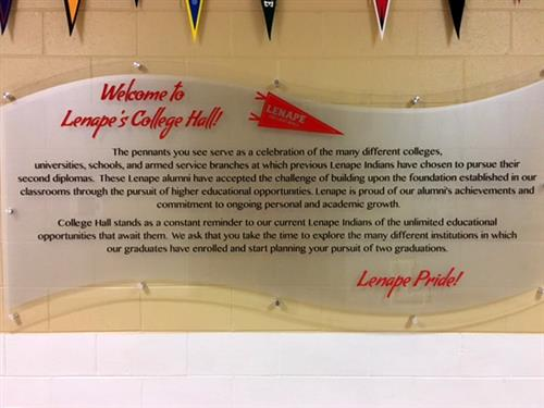 College Hall Sign 1